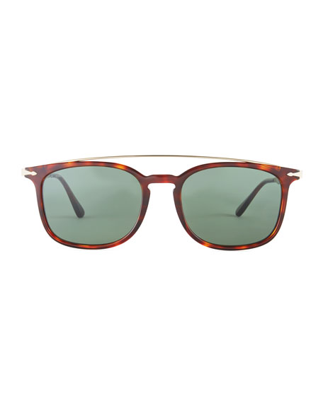 PO3173S Square Pilot Sunglasses