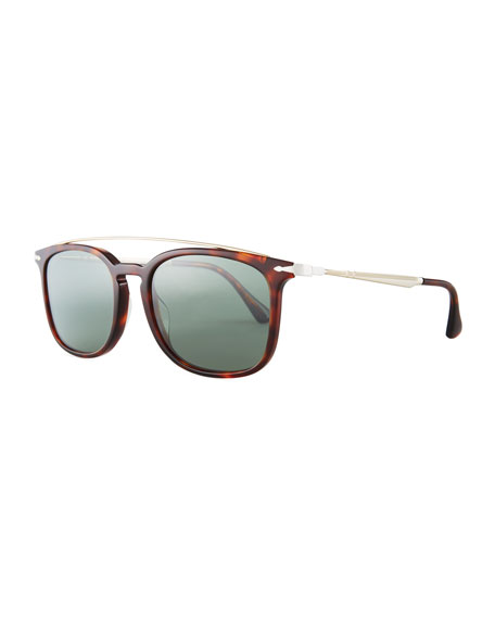 PO3173S Square Pilot Sunglasses