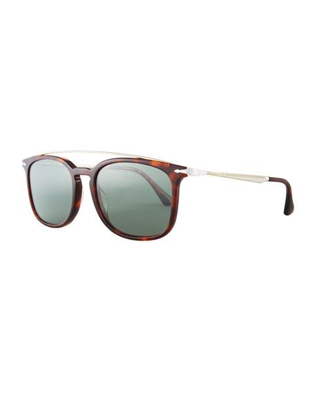 Persol PO3173S Square Pilot Sunglasses