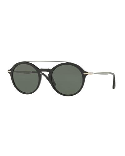 PO3172S Acetate Pilot Sunglasses