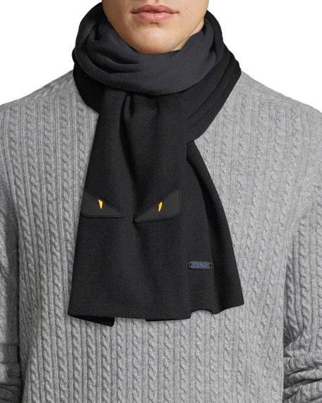 Fendi Contrast Wool Scarf