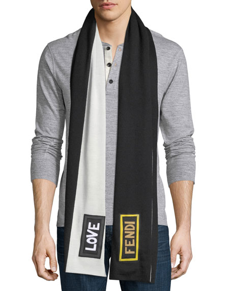 Love Fendi Fleece Wool Scarf