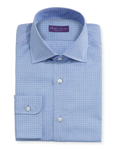 Micro-Glen Plaid Check Dress Shirt