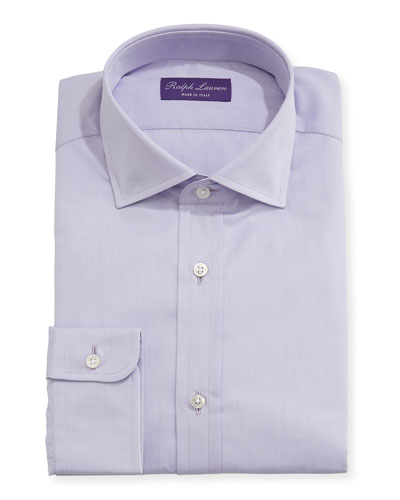 Solid End-on-End Cotton Dress Shirt