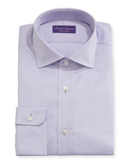 Ralph Lauren Solid End-on-End Cotton Dress Shirt