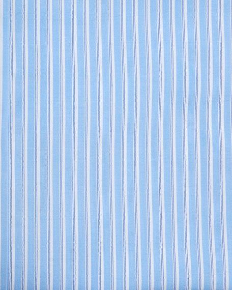 Alternating Stripe Cotton Dress Shirt