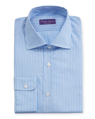 Alternating Stripe Cotton Dress Shirt