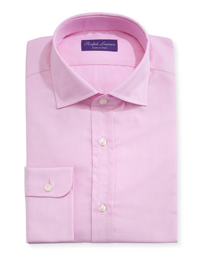 Solid Dobby Cotton Dress Shirt