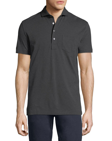 Heathered Pocket Polo Shirt