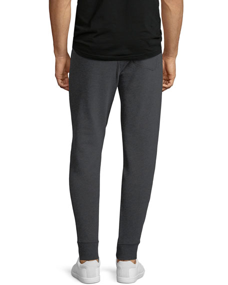 Tapered-Leg Cotton-Blend Sweatpants