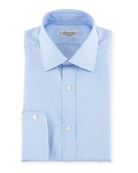 Poplin Dress Shirt, Blue