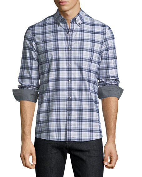 Michael Kors Jase Check Slim-Fit Sport Shirt