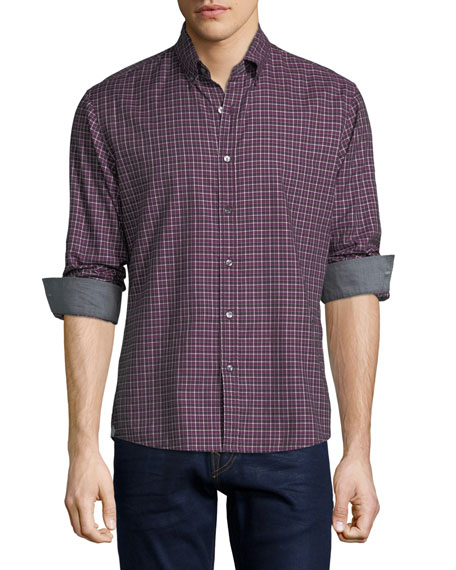 Michael Kors Bodi Check Slim-Fit Sport Shirt