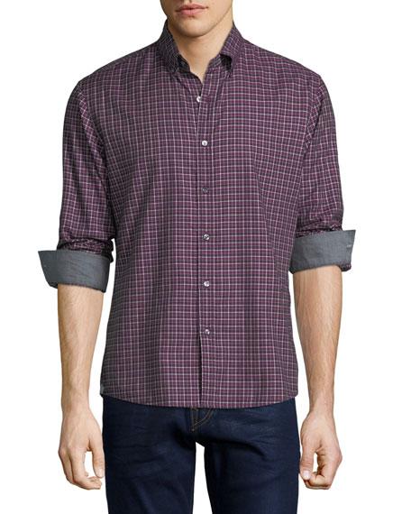 Michael Kors Bodi Check Slim-Fit Sport Shirt