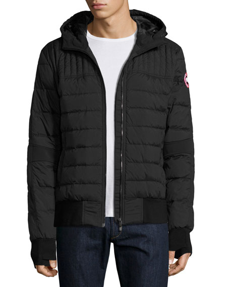 CANADA GOOSE Cabri Hooded Down Bomber Jacket, Black
