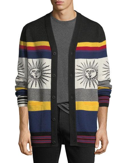 Striped Sunny Wool Cardigan