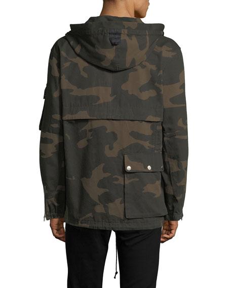 Camouflage Hooded Utility Jacket