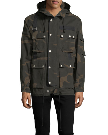Ovadia & Sons Camouflage Hooded Utility Jacket