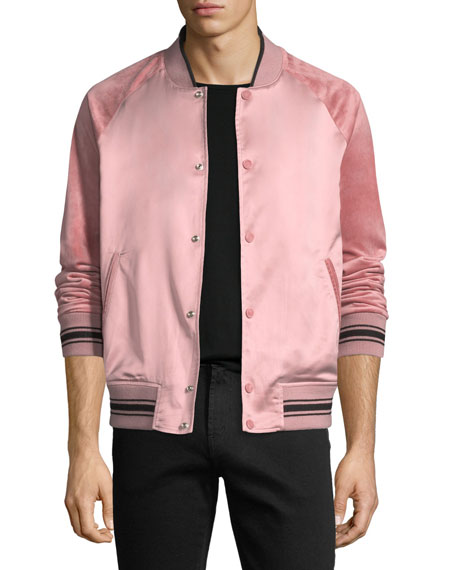 Alex Satin Varsity Jacket
