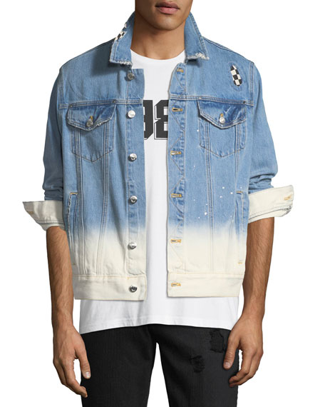 Ovadia & Sons Checker-Wash Denim Jacket