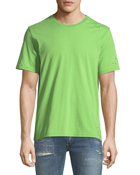 Ovadia & Sons Distressed Jersey T-Shirt, Lime