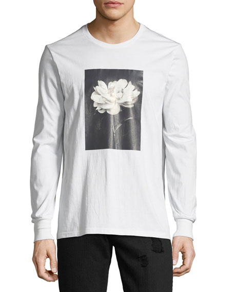 Floral Photographic Long-Sleeve T-Shirt