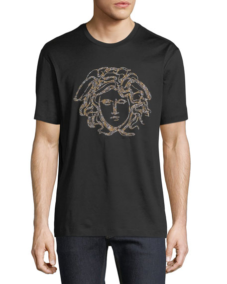 Versace Beaded Medusa T-Shirt