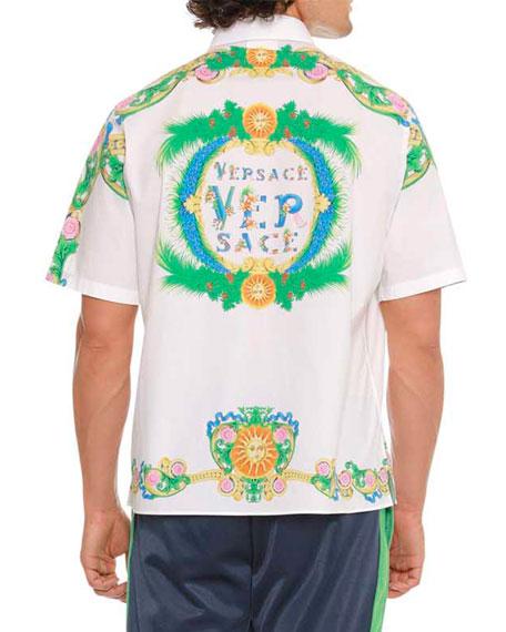 Signature Miami-Printed Short-Sleeve Sport Shirt