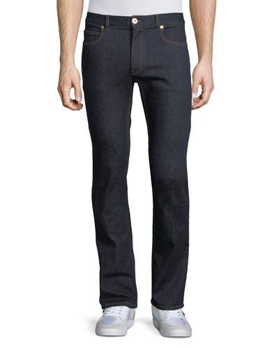 Taylor Modern Slim Denim Jeans, Dark Blue
