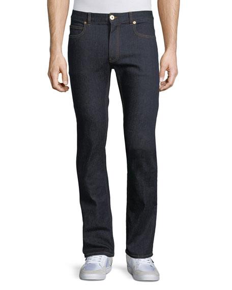 Versace Taylor Modern Slim Denim Jeans, Dark Blue
