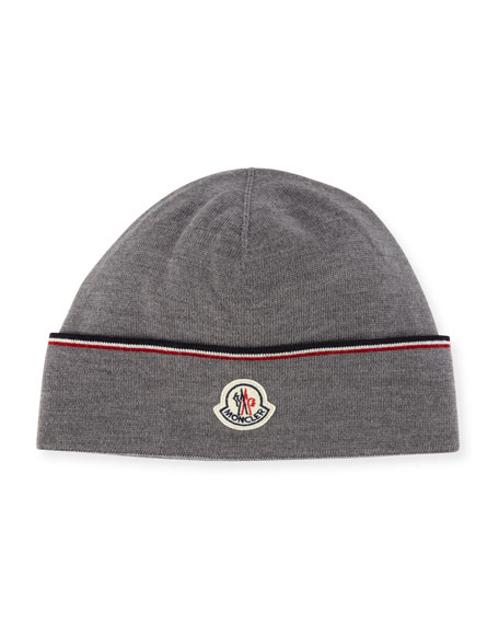 Moncler WOVEN TRI-COLOR TRIM HAT