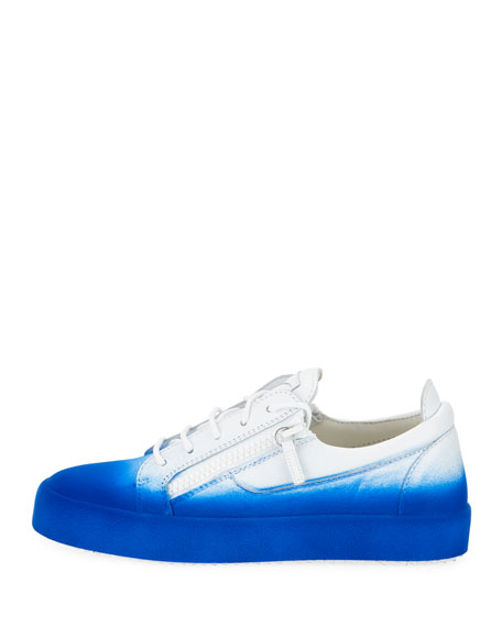 Men's Smuggy Fade-In Flocked Low-Top Sneakers, Blue