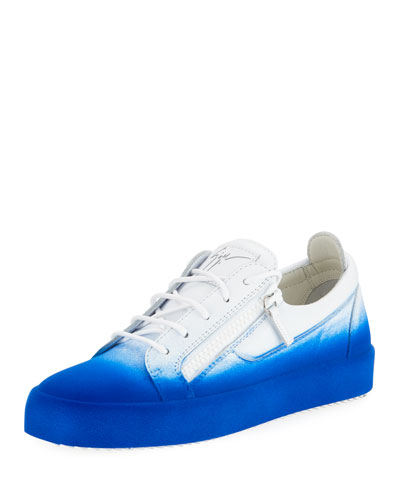 Smuggy Fade-In Flocked Low-Top Sneaker, Blue