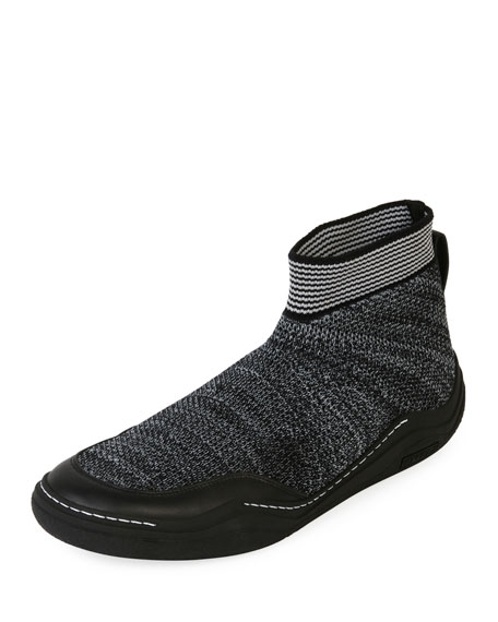 Lanvin Men's Mesh Low Sock Runner Sneaker