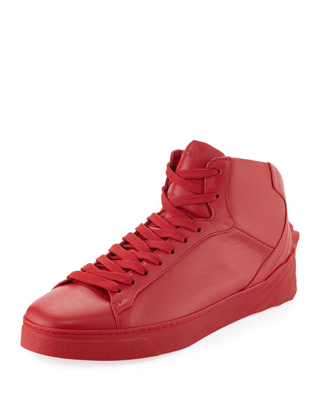 Versace Men's 3D Medusa Mid-Top Leather Sneakers