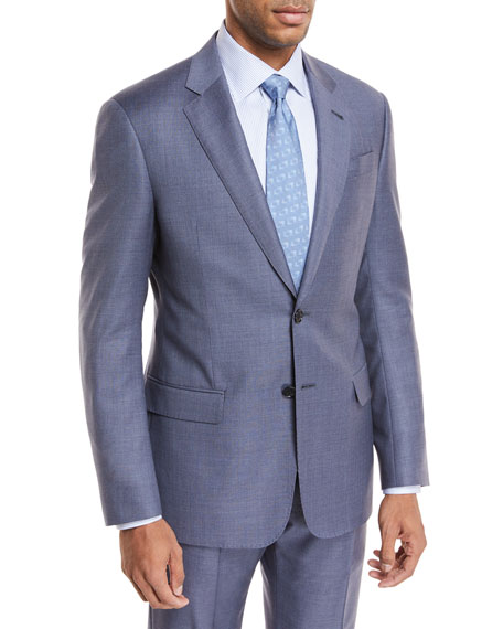 Giorgio Armani Micro-Check Wool Two-Piece Suit