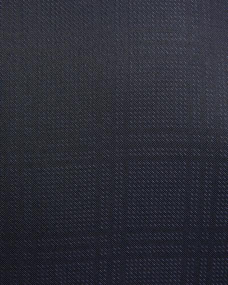 Tonal Plaid Peak-Lapel Slim Tuxedo Set