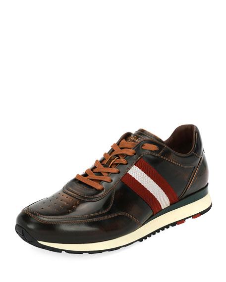 Bally Aston Leather Running Sneaker