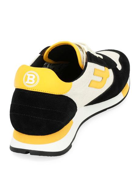 Men's Gavino Retro Leather Running Sneakers
