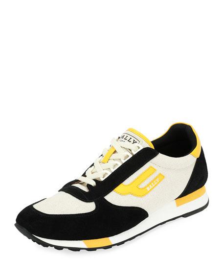Bally Gavino Retro Leather Running Sneaker
