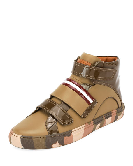 Men's Herrick Camouflage Leather High-Top Sneakers