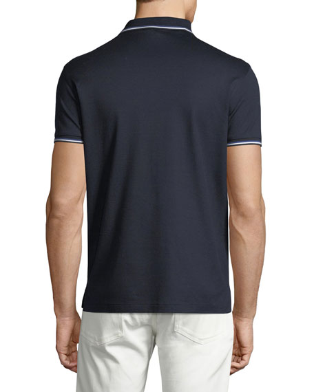 Tipped-Trim Piqué Polo Shirt