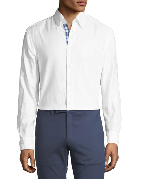 Contrast-Face Oxford Shirt