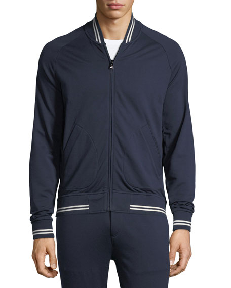 Stripe-Trim Track Jacket