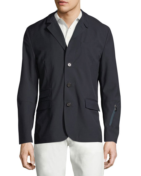 Solid Convertible Sport Jacket