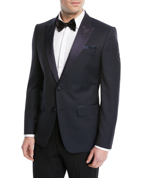 BOSS Satin-Lapel Dot-Jacquard Dinner Jacket