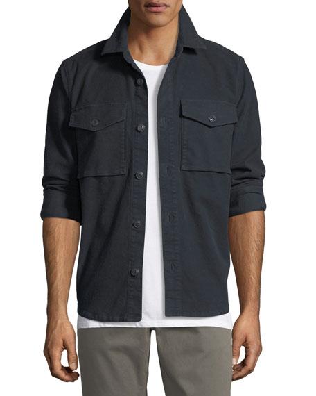 J Brand Men's Muttnik Twill Shirt Jacket
