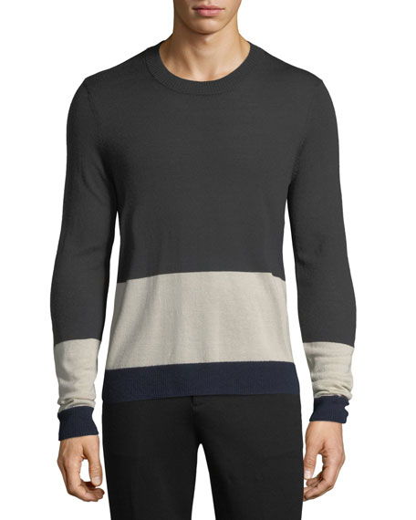 ATM Anthony Thomas Melillo Merino Wool Colorblocked Sweater