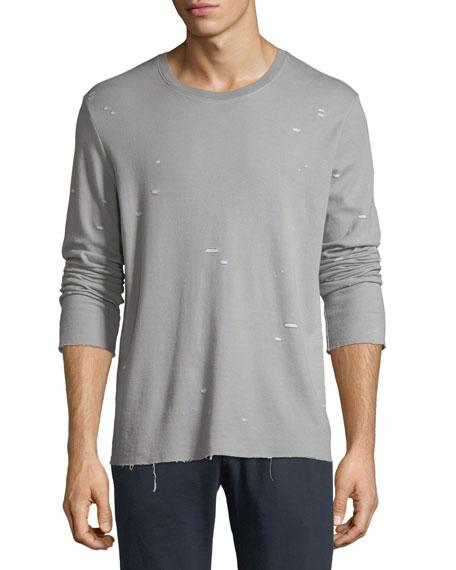 ATM Anthony Thomas Melillo Distressed Jersey Long-Sleeve Shirt