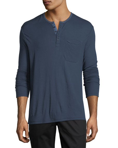 ATM Anthony Thomas Melillo Double-Faced Henley Shirt